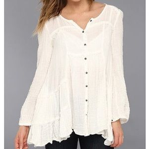 Free People Whistle While You Work Tunic Trapeze